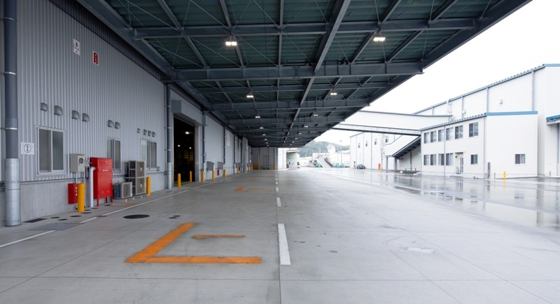 和歌山ノーキョー食品海南工場 無菌充填ペットボトル飲料製造建屋・倉庫